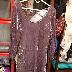 American Eagle purple velvet dress XXL